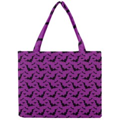 Animals Bad Black Purple Fly Mini Tote Bag by Mariart