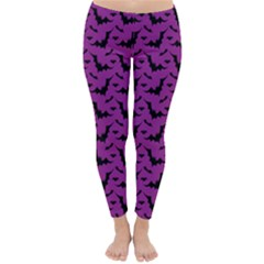 Animals Bad Black Purple Fly Classic Winter Leggings by Mariart
