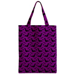 Animals Bad Black Purple Fly Zipper Classic Tote Bag by Mariart