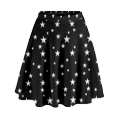 Black Star Space High Waist Skirt by Mariart