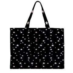 Black Star Space Medium Tote Bag by Mariart