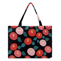Candy Sugar Red Pink Blue Black Circle Medium Tote Bag by Mariart