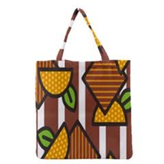 Chocolate Lime Brown Circle Line Plaid Polka Dot Orange Green White Grocery Tote Bag by Mariart