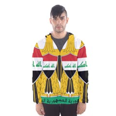 Coat Of Arms Of Iraq  Hooded Wind Breaker (men) by abbeyz71