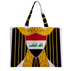 Coat Of Arms Of Iraq  Zipper Mini Tote Bag by abbeyz71