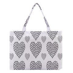 Black Paw Hearts Love Animals Medium Tote Bag by Mariart
