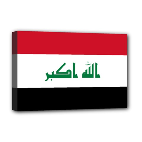 Flag Of Iraq Deluxe Canvas 18  X 12   by abbeyz71