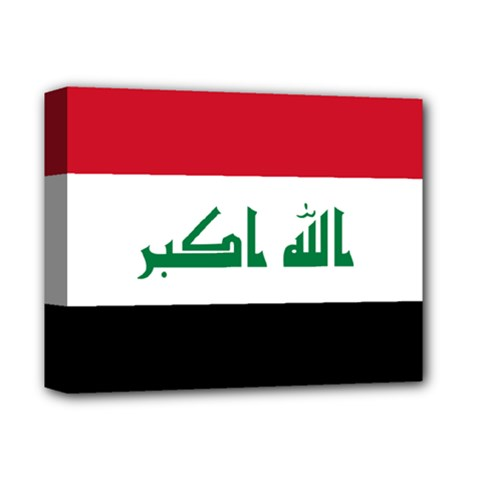 Flag Of Iraq  Deluxe Canvas 14  X 11  by abbeyz71