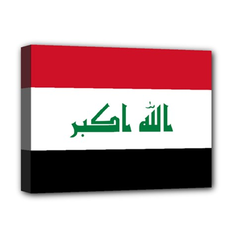 Flag Of Iraq  Deluxe Canvas 16  X 12   by abbeyz71