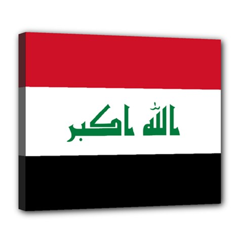 Flag Of Iraq  Deluxe Canvas 24  X 20   by abbeyz71