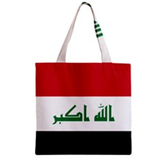 Flag Of Iraq  Zipper Grocery Tote Bag by abbeyz71