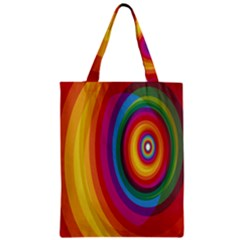 Circle Rainbow Color Hole Rasta Zipper Classic Tote Bag by Mariart