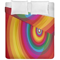 Circle Rainbow Color Hole Rasta Duvet Cover Double Side (california King Size) by Mariart