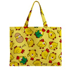 Animals Yellow Chicken Chicks Worm Green Zipper Mini Tote Bag by Mariart