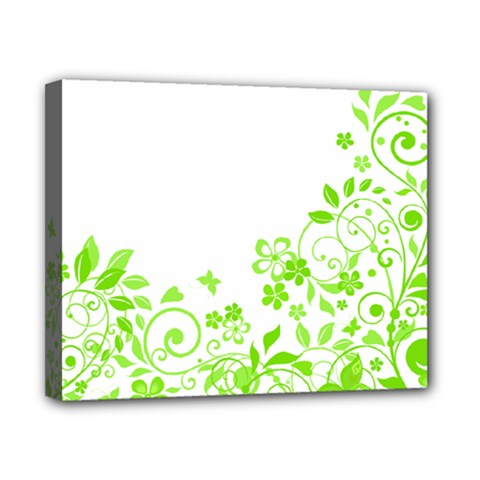 Butterfly Green Flower Floral Leaf Animals Canvas 10  X 8  by Mariart
