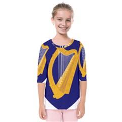 Coat Of Arms Of Ireland Kids  Quarter Sleeve Raglan Tee