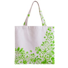 Butterfly Green Flower Floral Leaf Animals Zipper Grocery Tote Bag by Mariart