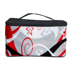 Flower Floral Star Red Wave Cosmetic Storage Case by Mariart