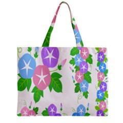 Flower Floral Star Purple Pink Blue Leaf Zipper Mini Tote Bag by Mariart