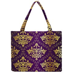 Flower Purplle Gold Mini Tote Bag by Mariart