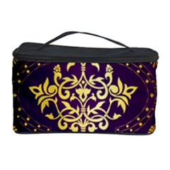 Flower Purplle Gold Cosmetic Storage Case by Mariart