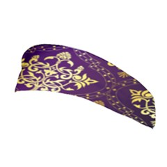 Flower Purplle Gold Stretchable Headband