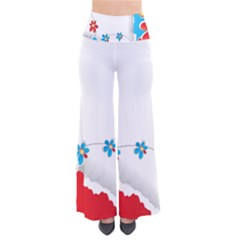 Flower Floral Papper Butterfly Star Sunflower Red Blue Green Leaf Pants by Mariart