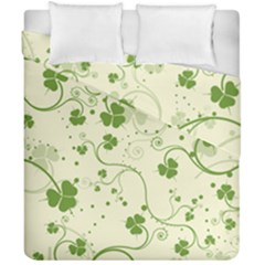Flower Green Shamrock Duvet Cover Double Side (california King Size) by Mariart