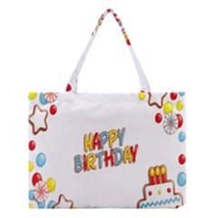 Happy Birthday Medium Tote Bag by Mariart