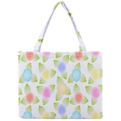 Fruit Grapes Purple Yellow Blue Pink Rainbow Leaf Green Mini Tote Bag by Mariart