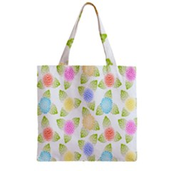 Fruit Grapes Purple Yellow Blue Pink Rainbow Leaf Green Zipper Grocery Tote Bag by Mariart