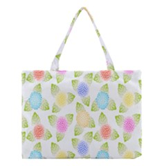Fruit Grapes Purple Yellow Blue Pink Rainbow Leaf Green Medium Tote Bag by Mariart