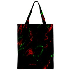 Paint Black Red Green Zipper Classic Tote Bag by Mariart