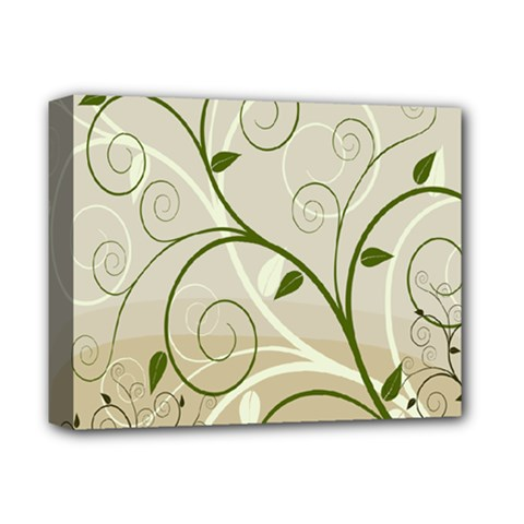 Leaf Sexy Green Gray Deluxe Canvas 14  X 11  by Mariart