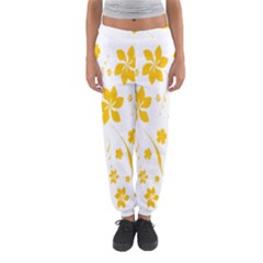 Shamrock Yellow Star Flower Floral Star Women s Jogger Sweatpants by Mariart