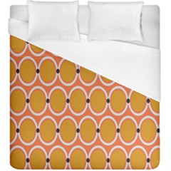 Orange Circle Polka Duvet Cover (king Size) by Mariart