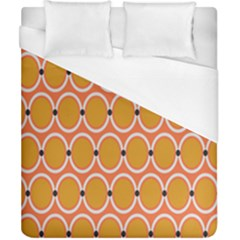 Orange Circle Polka Duvet Cover (california King Size) by Mariart
