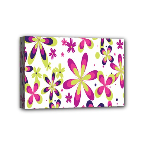 Star Flower Purple Pink Mini Canvas 6  x 4
