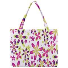 Star Flower Purple Pink Mini Tote Bag