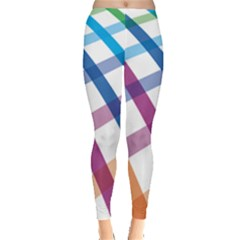 Webbing Line Color Rainbow Leggings  by Mariart