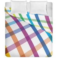 Webbing Line Color Rainbow Duvet Cover Double Side (california King Size) by Mariart