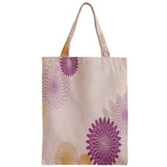 Star Sunflower Floral Grey Purple Orange Zipper Classic Tote Bag by Mariart