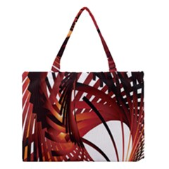 Webbing Red Medium Tote Bag by Mariart