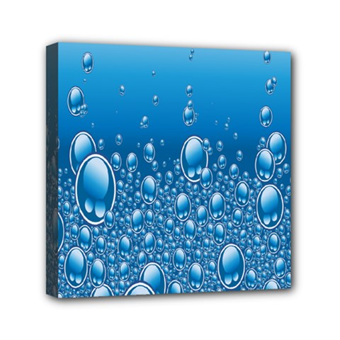 Water Bubble Blue Foam Mini Canvas 6  X 6  by Mariart