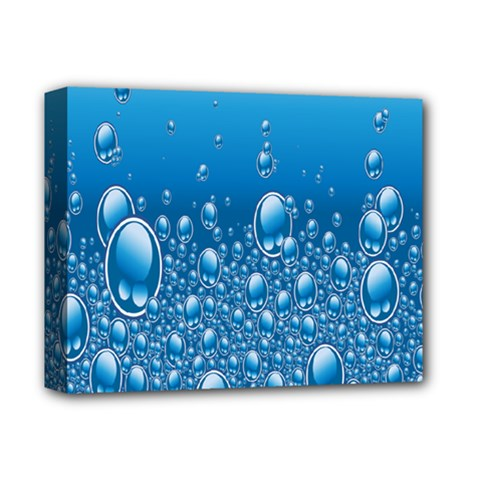 Water Bubble Blue Foam Deluxe Canvas 14  X 11  by Mariart