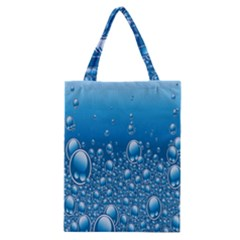 Water Bubble Blue Foam Classic Tote Bag by Mariart