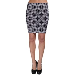 Geometric Black And White Bodycon Skirt by linceazul