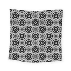 Geometric Black And White Square Tapestry (small) by linceazul