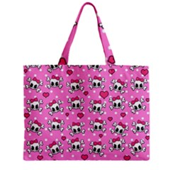 Cute Skulls  Zipper Mini Tote Bag by Valentinaart