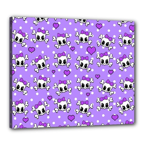 Cute Skulls  Canvas 24  X 20  by Valentinaart